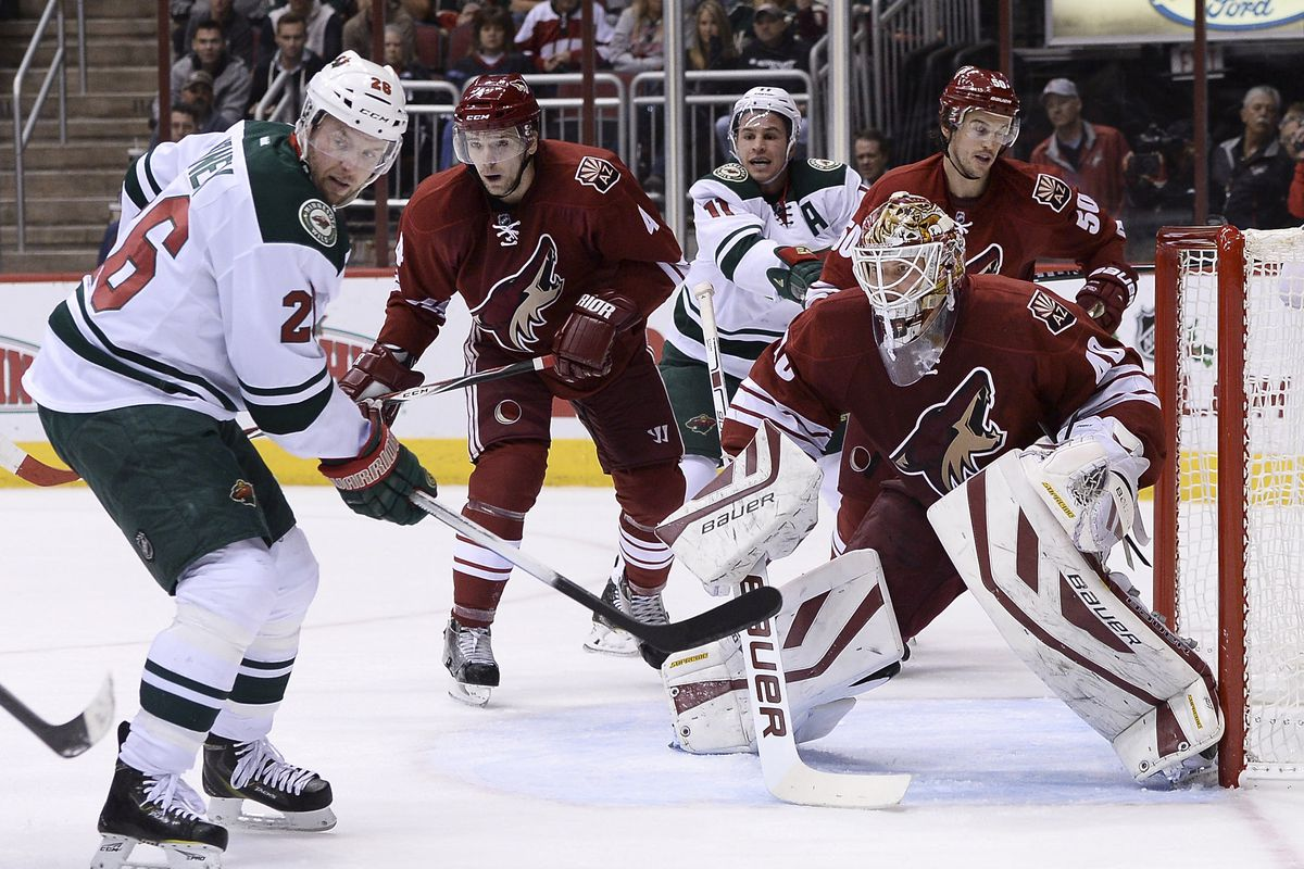 Last time the Wild visited Arizona, Zach Parise and Thomas Vanek were on the same line.
