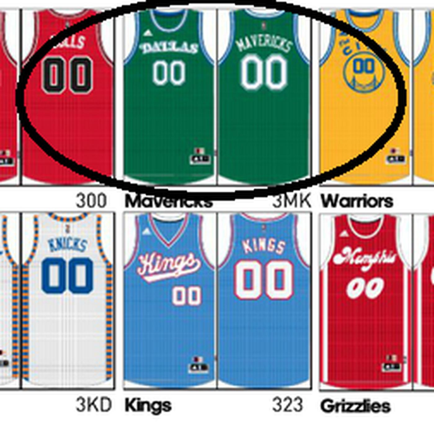 b8d89ac57 Mavericks apparently add retro green jerseys