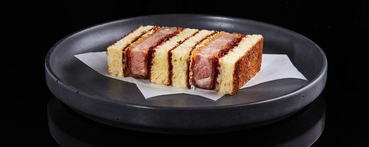 Tōu by Tata Eatery's Iberico pork katsu sando, at Arcade Food Theatre, Centre Point