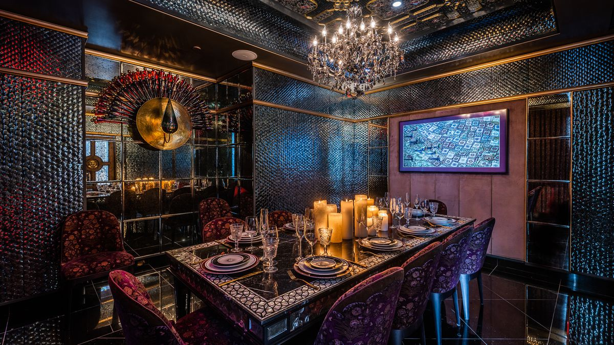 A Private Dining Room At Punjab Grill Is Covered In 150000 Hand Laid Mirrors Rey Lopez Eater DC