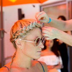 Glamsquad was also in the house making braids using OUAI's bestselling haircare products.