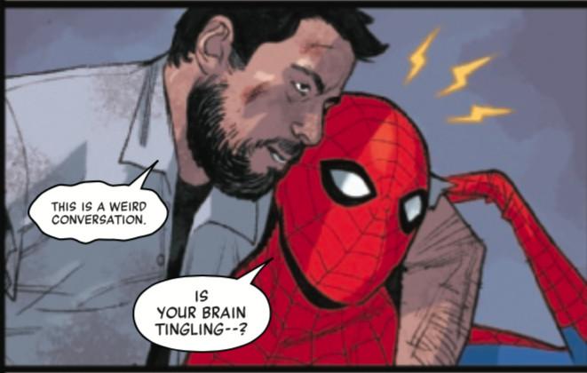 spider-man saves greg grunberg and feels his spidey sense