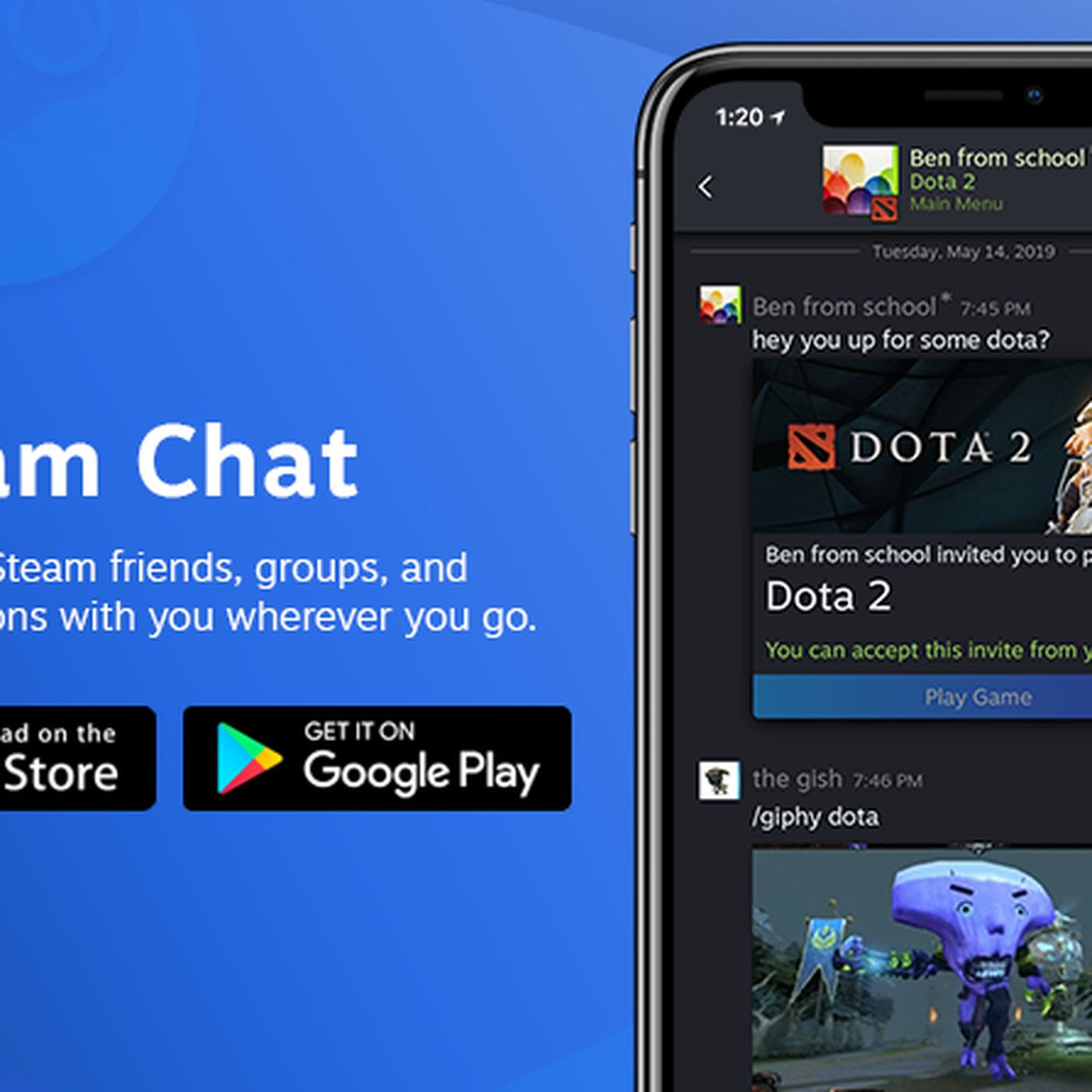 theverge.com - Sam Byford - Valve releases Steam Chat app for iOS and Android