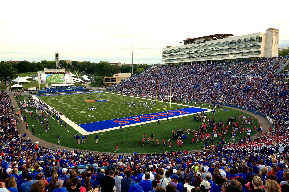 Kansas Jayhawks Football Memorial Stadium Highest Attendance Rock