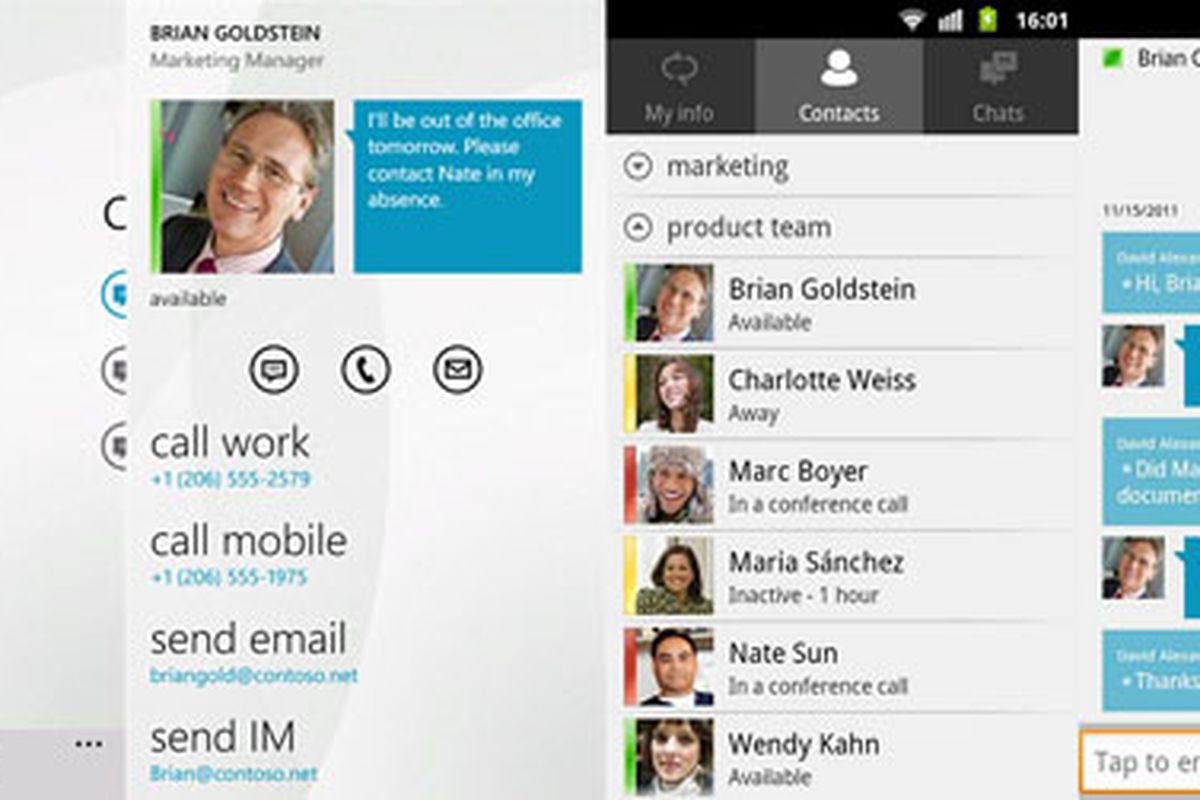 Microsoft Lync available for Windows Phone and Android, iOS