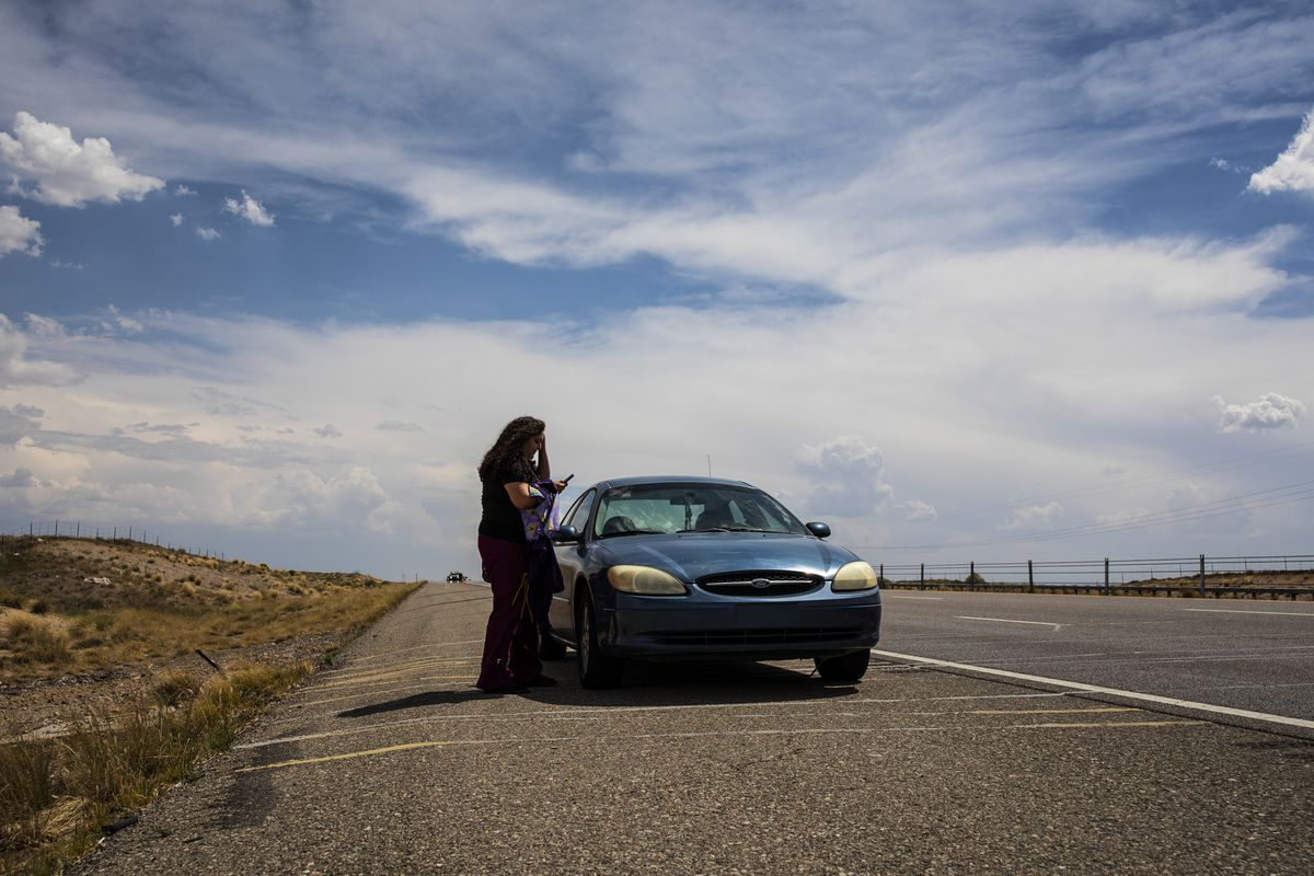 Angelica's car broke down on the side of the interstate outside of Albuquerque, New Mexico on her way to the Heart Is Home Cooperative Care.