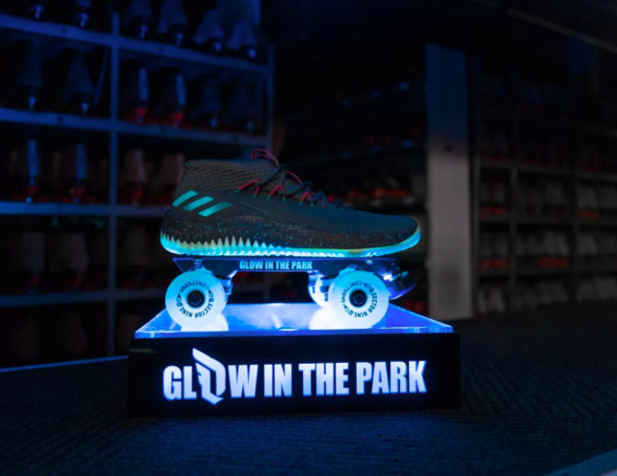 c44c95d43d4 The idea of a glow in the dark shoe was inspired by Lillard s love for  night skating as a kid. That s why you see the skates attached to the  sneaker in the ...