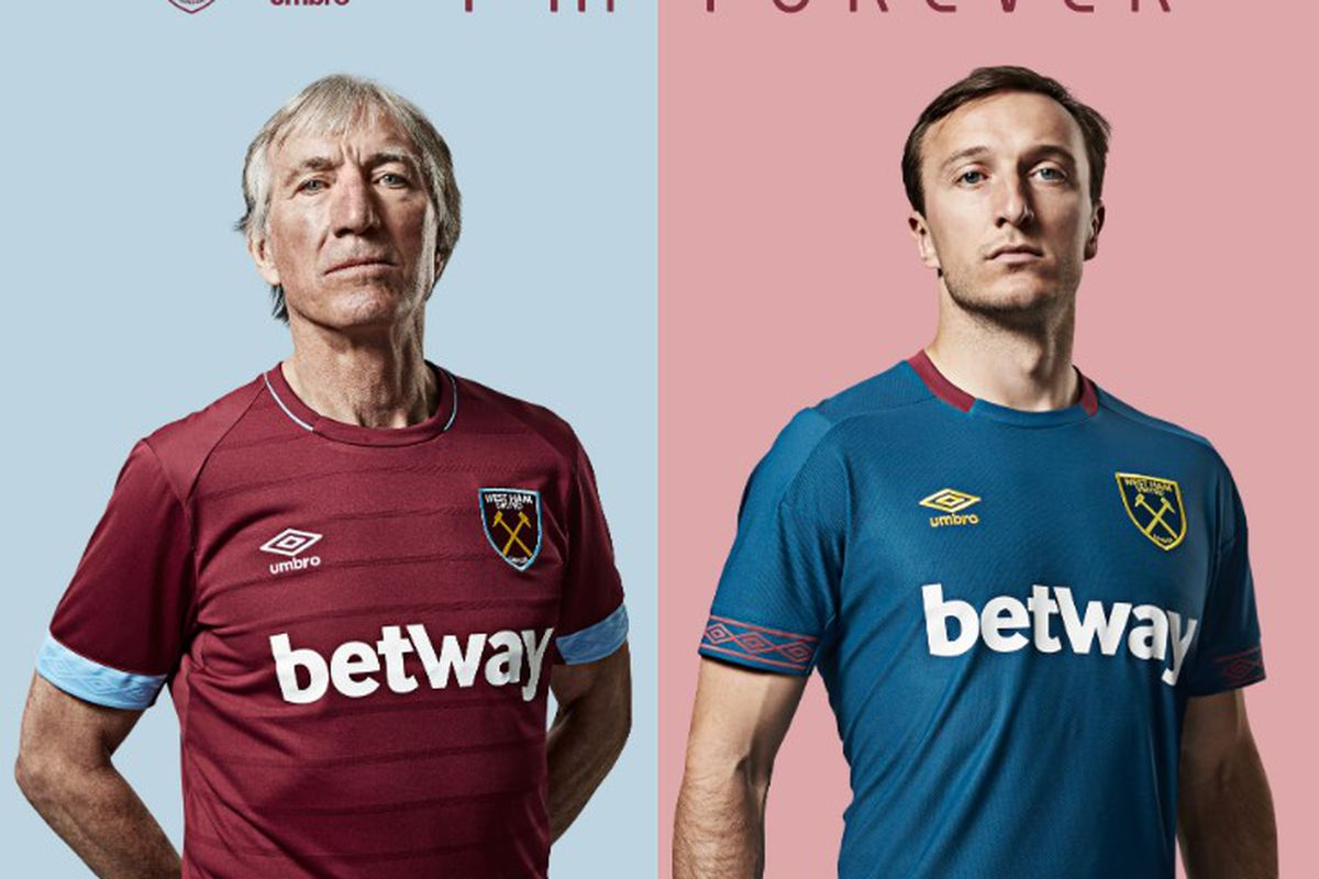 West Ham reveal new home and away kits and other kit news - Brace ... a607719eb