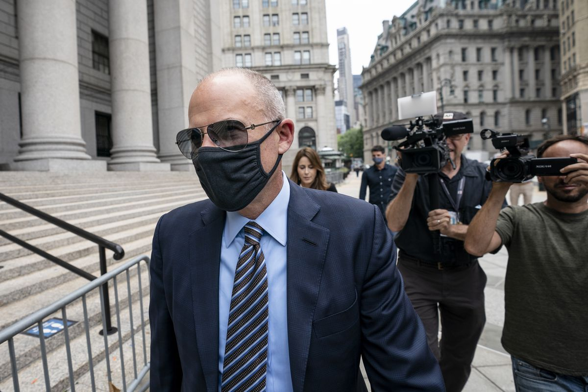 Michael Avenatti arrives for a scheduled sentencing at Manhattan federal court on Thursday in New York.