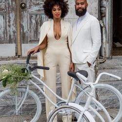 The ultimate wedding-day jumpsuit? This Stéphane Rolland Couture look, as seen on Solange Knowles en route to her November 16th, 2014 nuptials with Alan Ferguson. (For the actual ceremony, she changed into a Kenzo cape gown.)