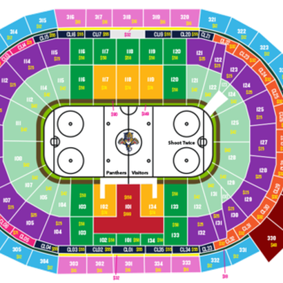 Florida Panthers Seating Map Florida Panthers Season Ticket seating chart   Litter Box Cats