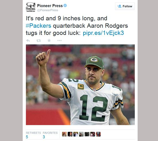 Aaron Rogers tweet