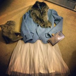 """Vanessa Bruno jacket, Fendi boots, Reese Hudson bag"""