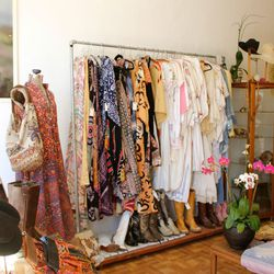 """Continue your vintage shopping sesh at <b>Honeywood Vintage</b> (5117 York Boulevard), a <a href=""""http://www.honeywoodvintage.com"""">hip haven</a> of unique finds """"inspired by Frida Kahlo's closet."""" On top of offering plenty of boho frocks and desert-ready"""