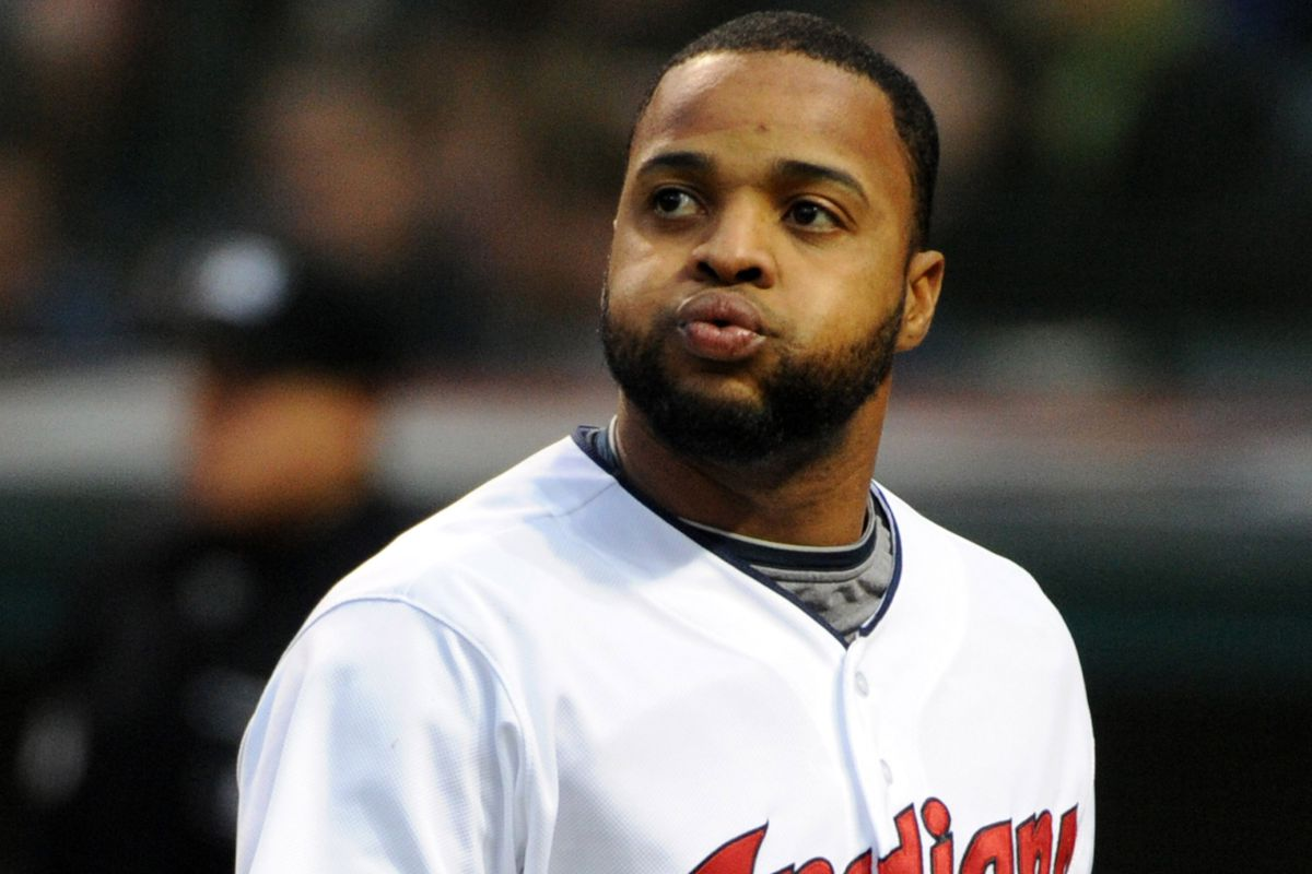 Carlos Santana had a good night at the plate, but unfortunately his two-run homer was the only offense the Indians could muster