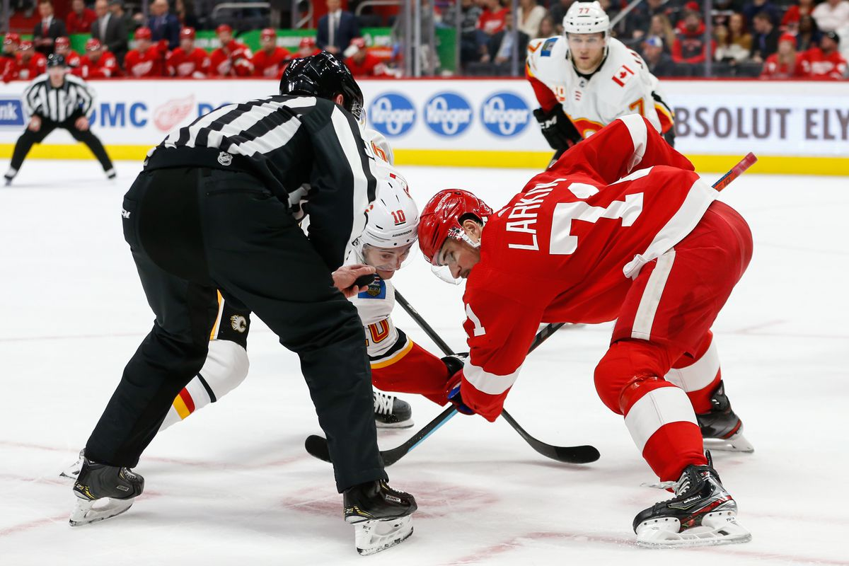NHL: FEB 23 Flames at Red Wings