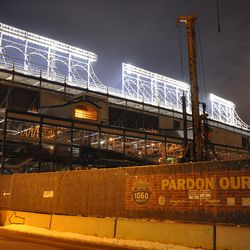 West side of the ballpark -