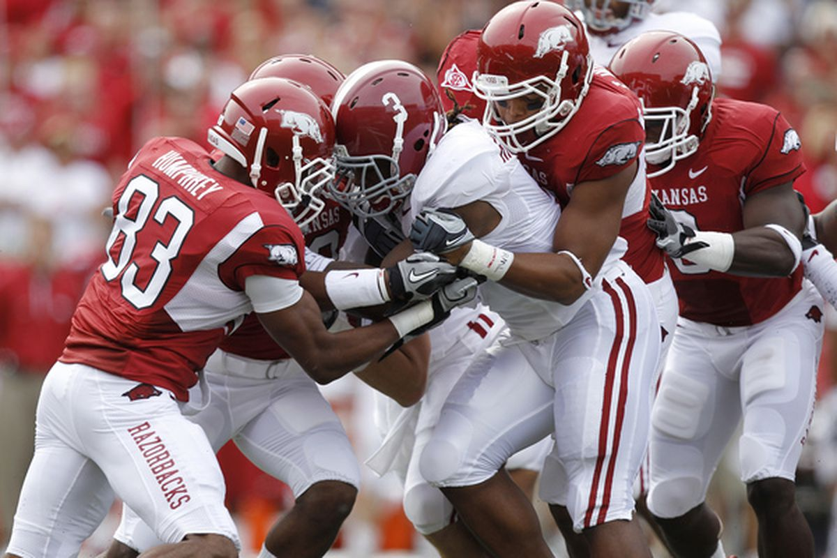 The Tide and Arkansas lead the league in selections on the annual Coaches All-SEC Preseason Team.