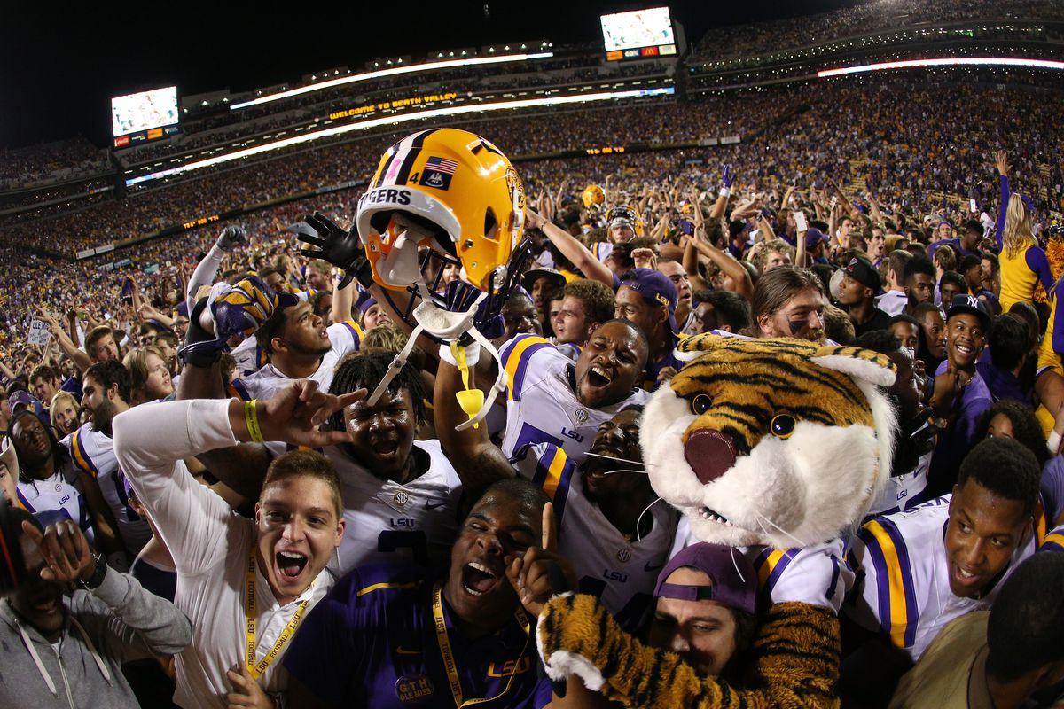 The Tigers were celebrating after their upset win against Ole Miss