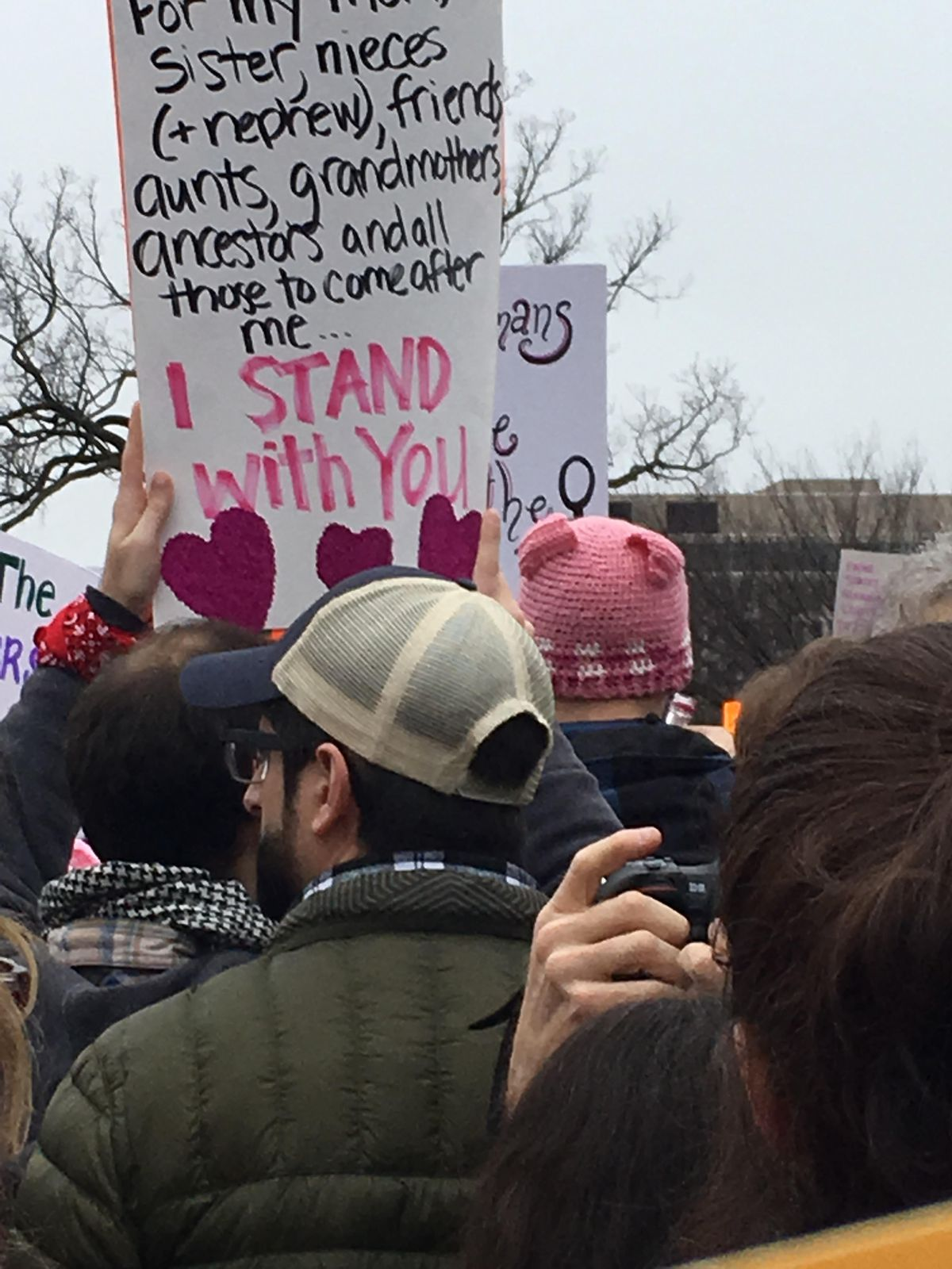 Sign at the Women's March