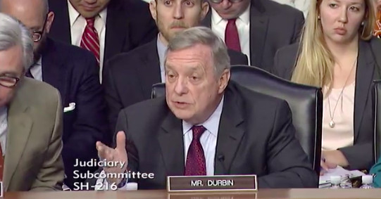 Sen. Dick Durbin talking to Facebook, Twitter and Google at their testimony about Russia meddling in 2016 presidential election