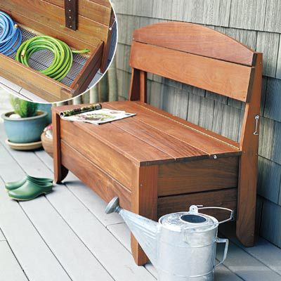 Garden Bench With Hidden Storage
