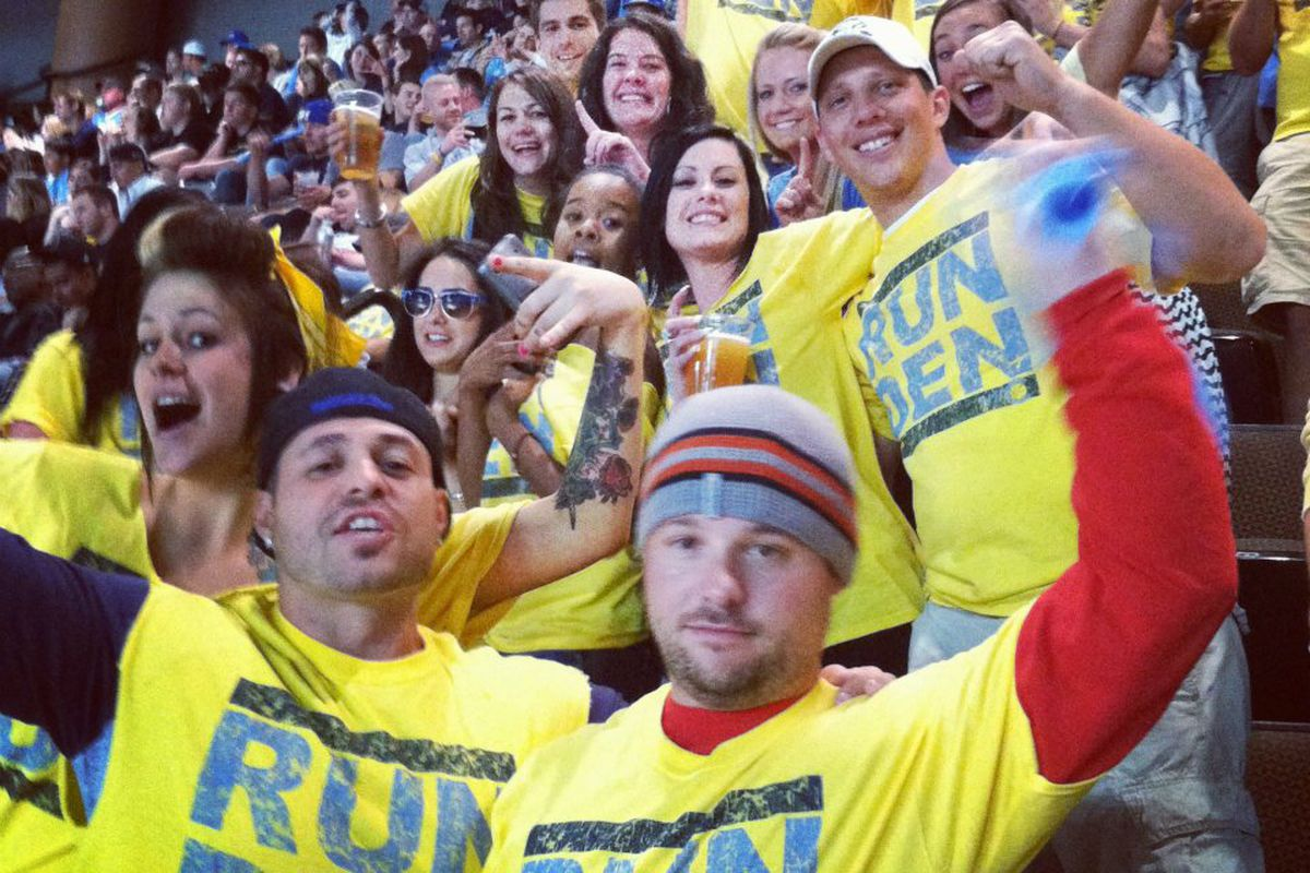The best section for a Nuggets playoff game!