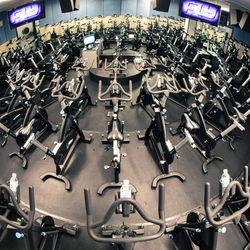 A fisheye view of the bikes.