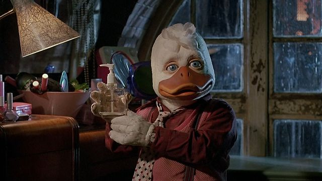 howard the duck holds some hand soap