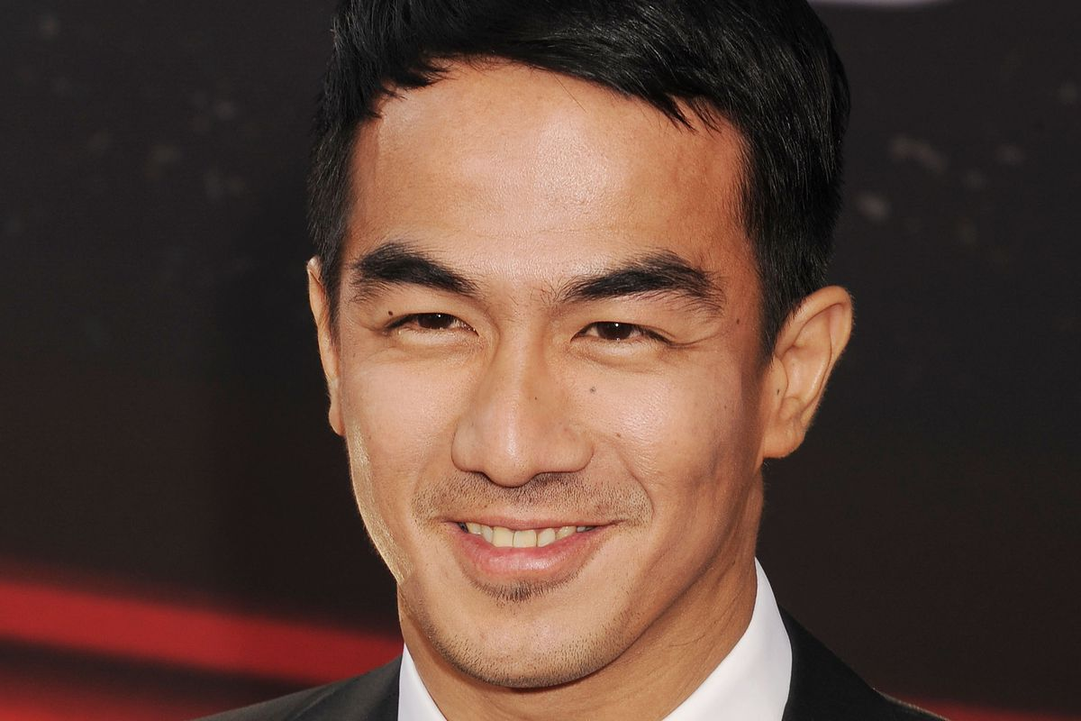 """Joe Taslim, who plays Sub-Zero in the new Mortal Kombat arrives at the LA premiere of the movie""""Fast & The Furious 6"""""""