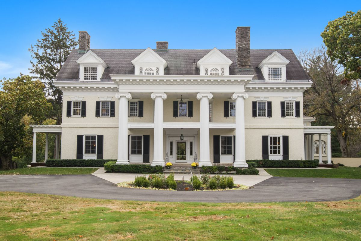 A classic mansion with Greek columns.