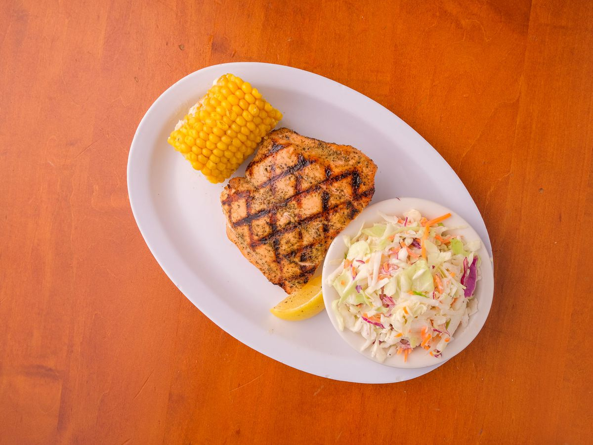 The salmon plate at Quality Seafood