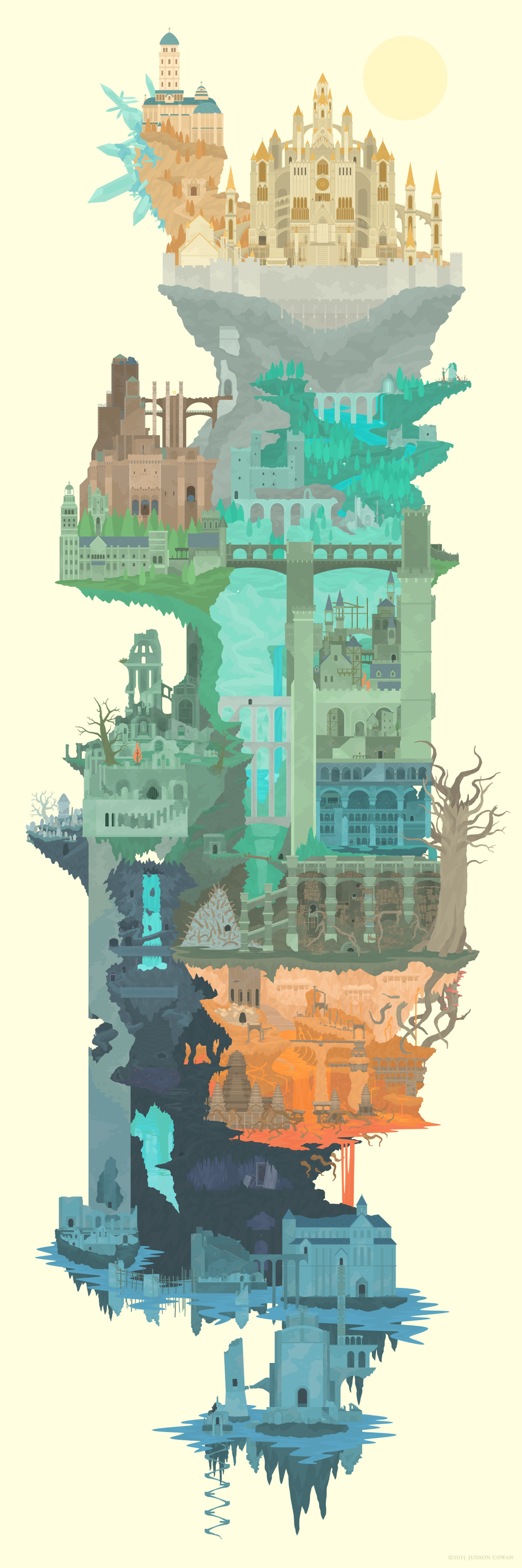 Gaze upon the realm of dark souls in one single image polygon lordran full map illustration large gumiabroncs Choice Image