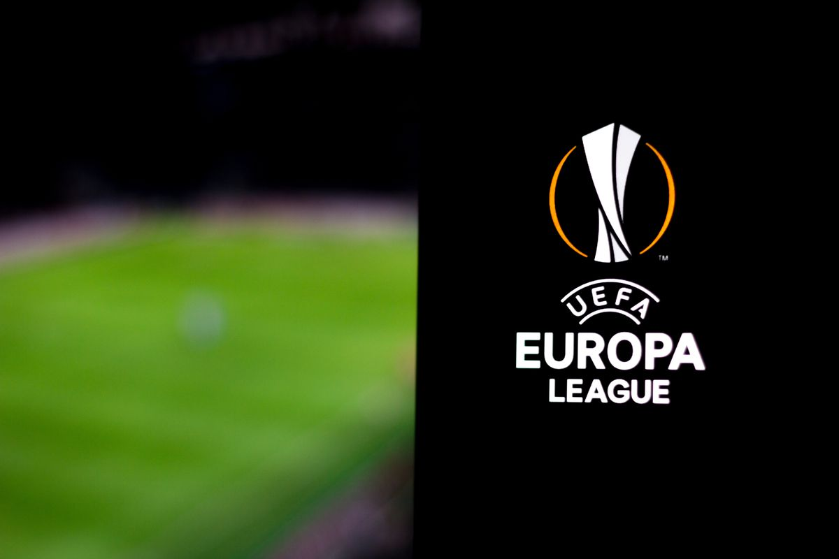 In this photo illustration a UEFA Europa League logo seen...
