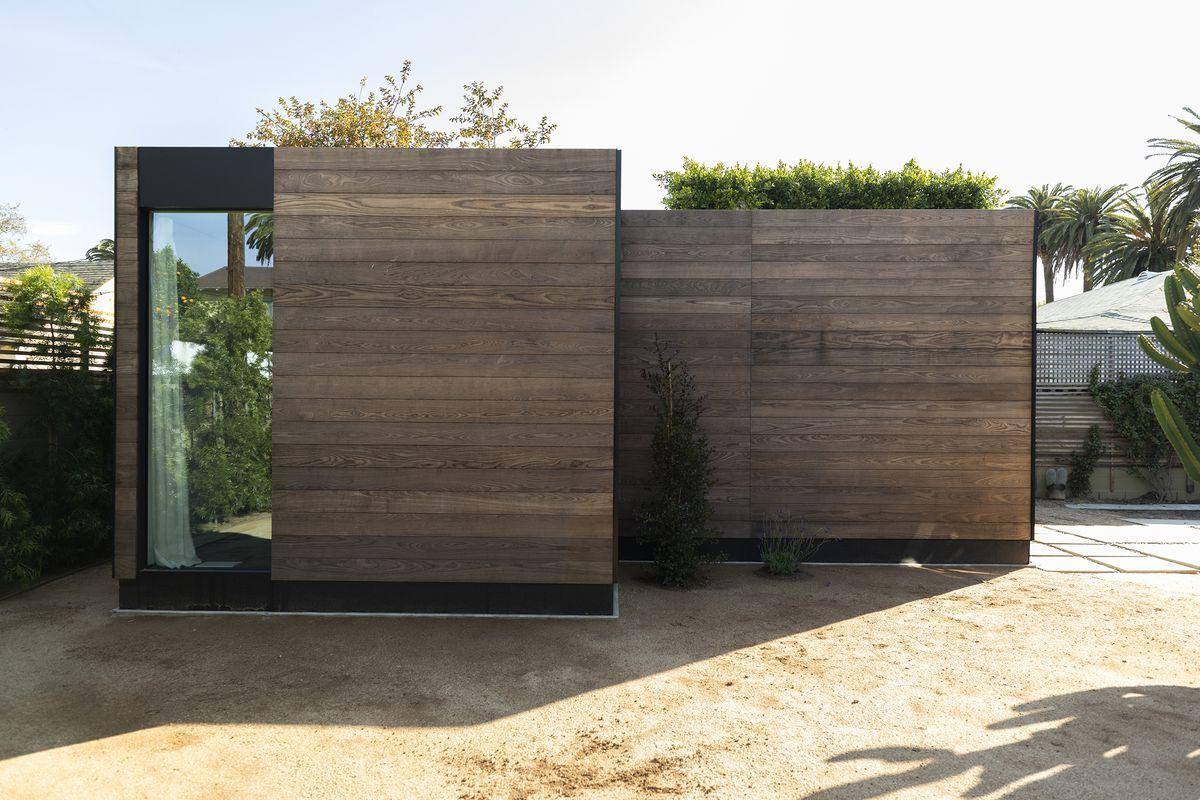 House clad in timber panels