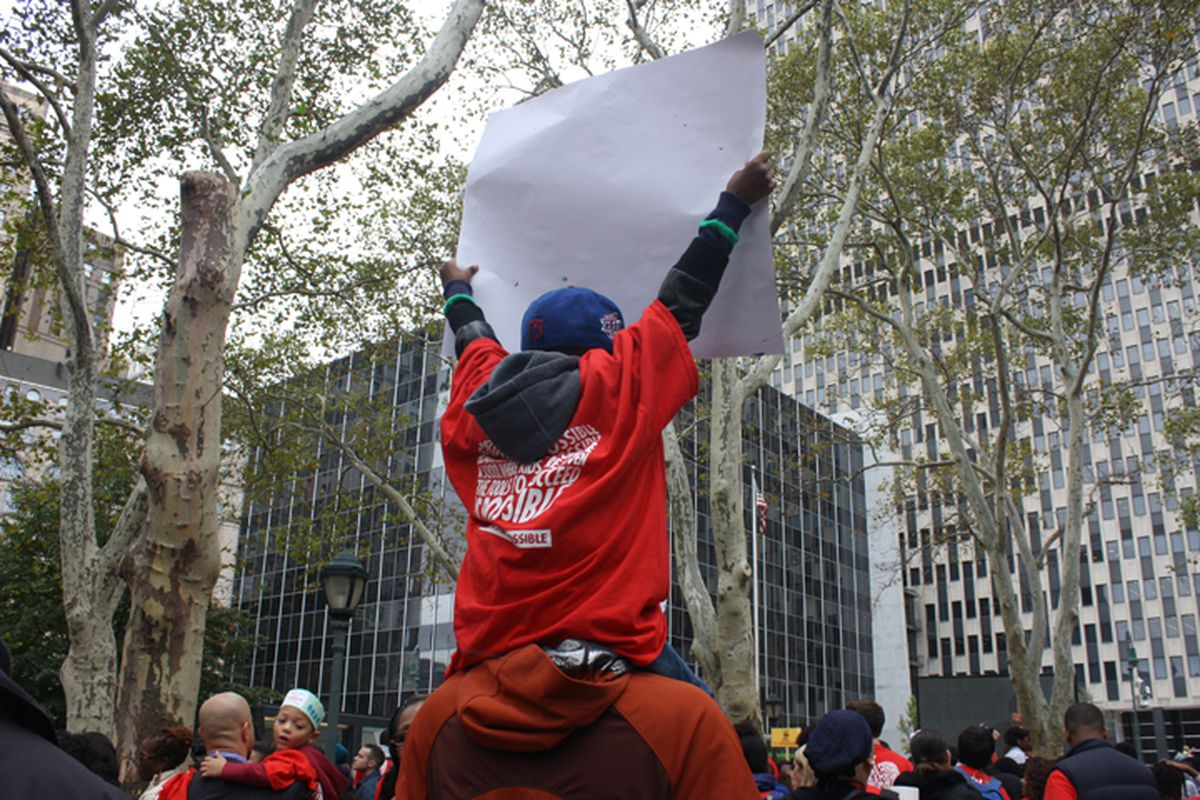 A charter school rally in Manhattan in 2014