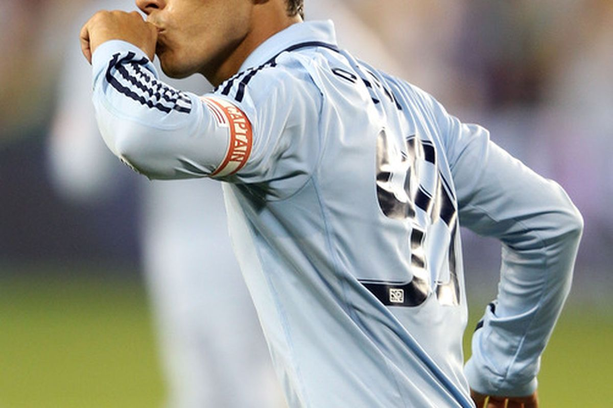 Mexican international and new Cruz Azul signing Omar Bravo, while playing with Sporting Kansas City.