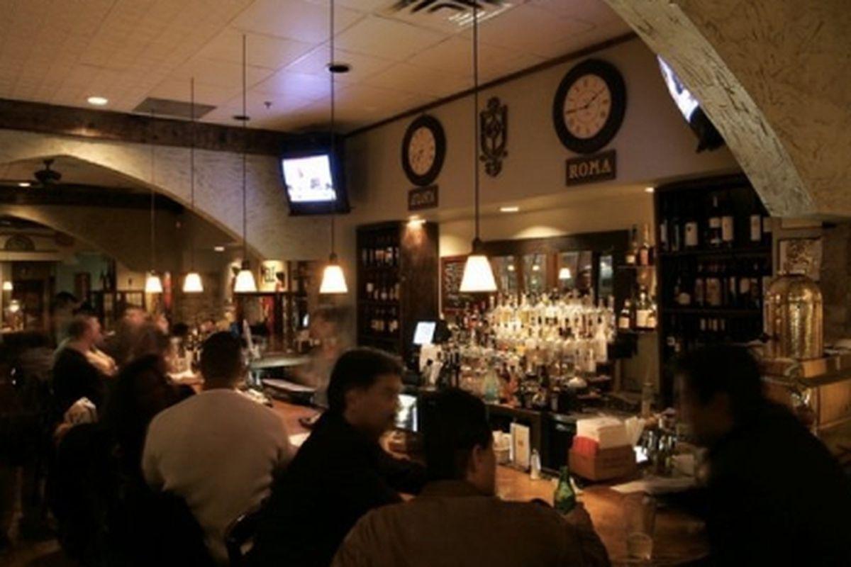 The bar at Baraonda.