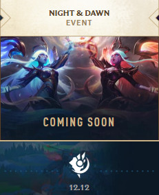 A small preview image of Nightbringer and Dawnbringer Soraka's splash art in the League of Legends client