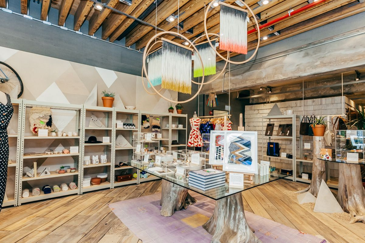 """The Space Ninety 8 marketplace, featuring local designers; Photo by <a href=""""http://drielys.com"""">Driely S.</a> for Racked"""
