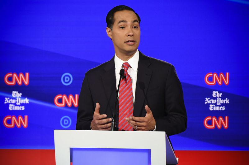 Democratic presidential hopeful former Housing and Urban Development Secretary Julian Castro during the fourth Democratic primary debate of the 2020 presidential campaign season.