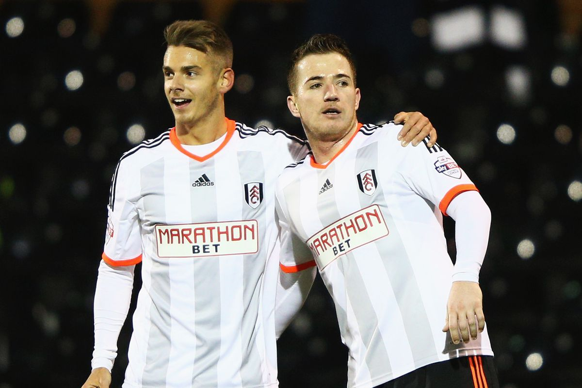 A magnificent result against Notts Forest in January. Alex Kaca (L) was recalled from loan in the window.