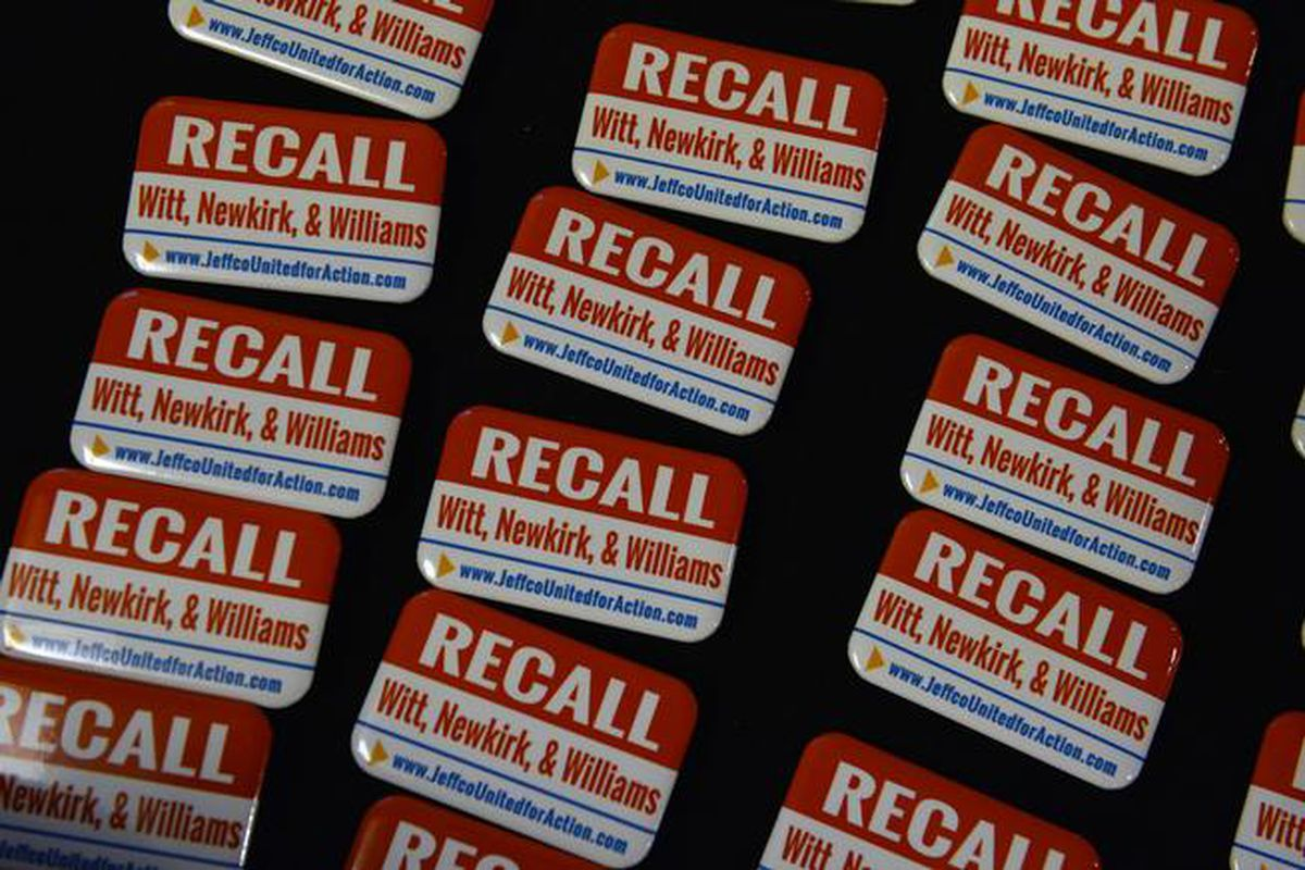 Party favors at recall supporters'  election night gathering (Helen H. Richardson/The Denver Post).