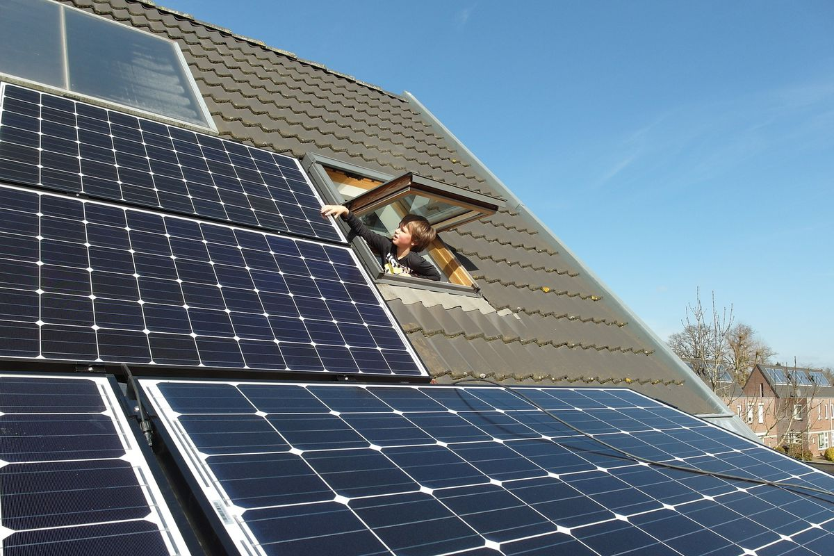 rooftop solar panel system