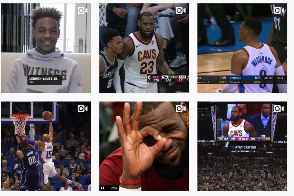 """Recent posts from Bleacher Report's popular """"House of Highlights"""" Instagram account"""
