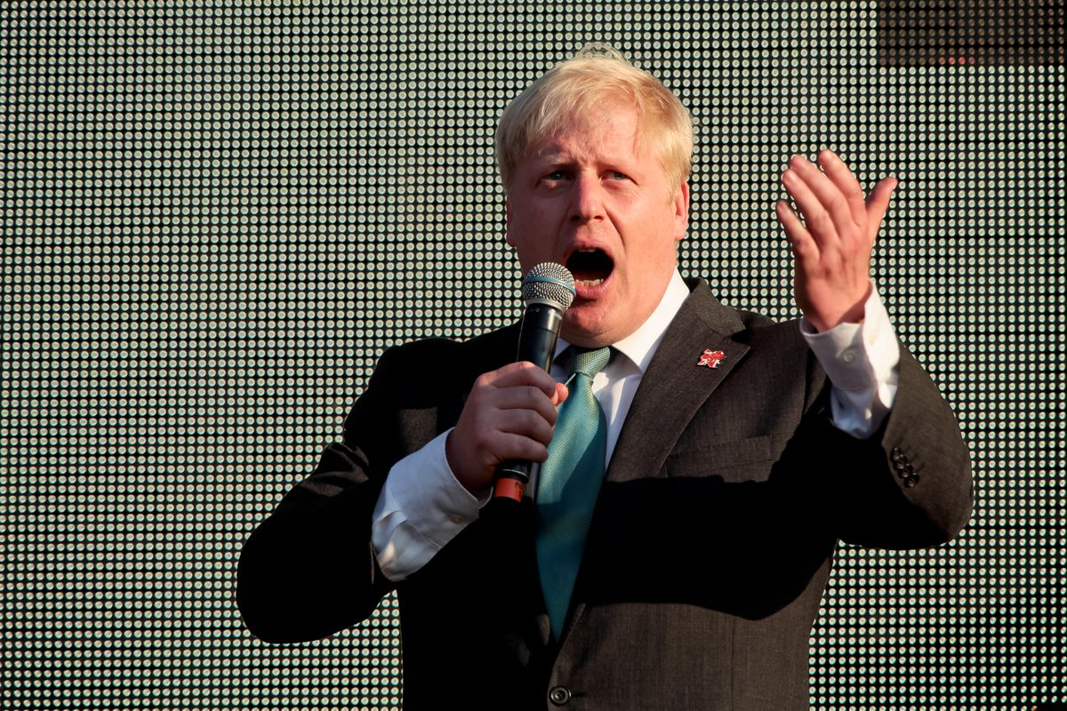 A picture of UK foreign minister Boris Johnson