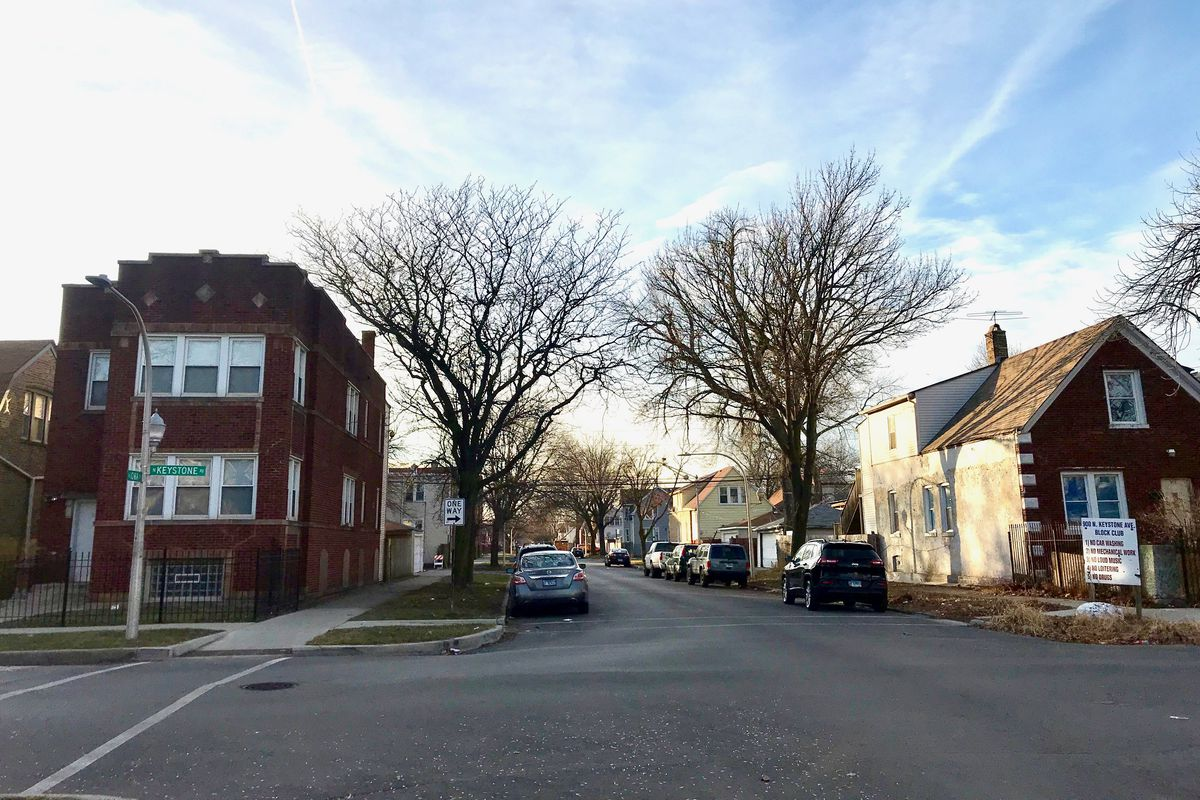 The intersection of Keystone Avenue and Iowa Street near where 36-year-old Tyrell Smith was fatally shot in December 2017.