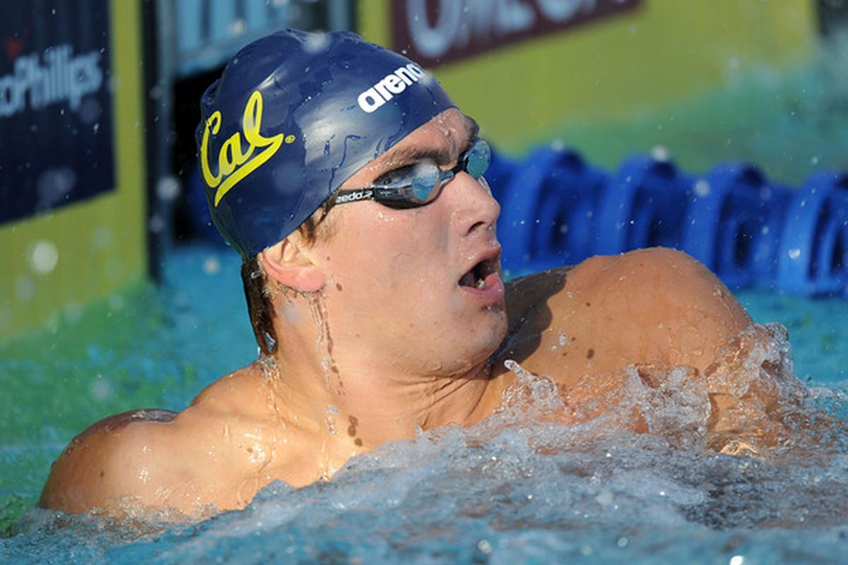 Nathan Adrian will go for the 100 Free win and Olympics berth tonight.