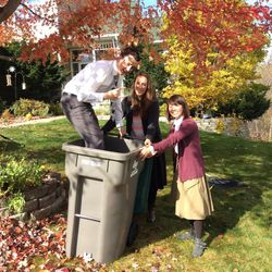 Sister Chin-Man Hu of Taoyuan, Taiwan, and other Mormon missionaries rake leaves while serving in the LDS Church's Minnesota Minneapolis Mission. Hu came to the United States on an R- religious workers visa and said serving here expanded her understanding of American culture and helped the Americans she served with realize that language and cultural barriers could be overcome through understanding each other better.
