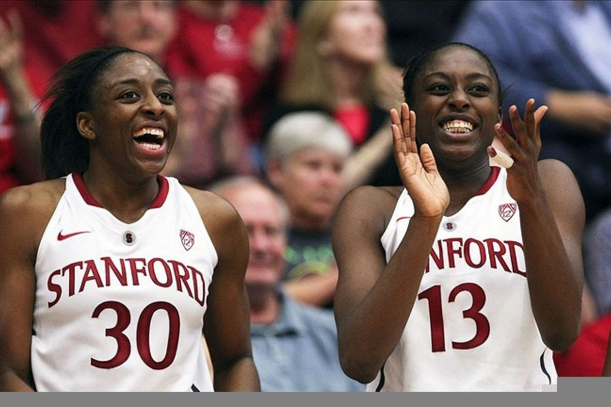 Stanford Cardinal fans love the way the Ogwumike sisters dominate the boards. California Golden Bears fans, not so much. Could rebounding be the difference in tomorrow's Battle of the Bay? <em>Kelley L Cox-US PRESSWIRE</em>